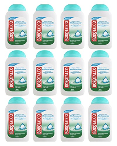 12 x Babypuder Bad-Talkum Refresher Prof. Moschus B.500 ml - Moschus, Talkum