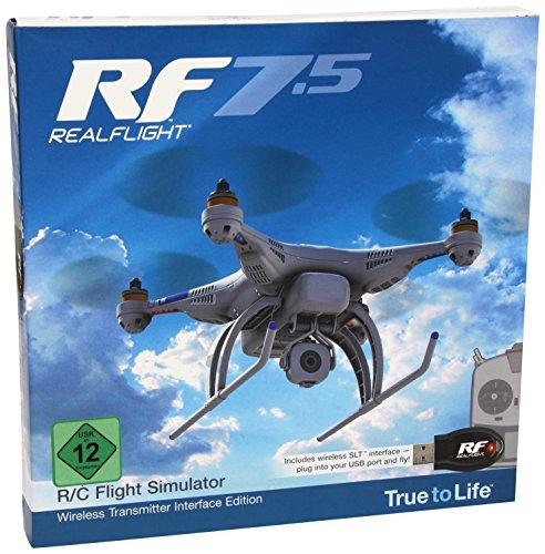 ght RealFlight 7.5, Edition mit kabelloser Schnittstelle für Flugsimulator Ferngesteuerter Flugmodelle (evtl. Nicht in Deutscher Sprache) ()