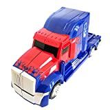 #10: Transformer Truck Bump & Go Action Figure Lights up and Walks Boys Toy-Multi Color