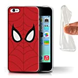 Stuff4 Coque Gel TPU de Coque pour Apple iPhone 5C / Spider-Man Masque Inspiré...