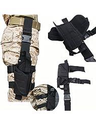 AGPtek Funda de Pistola Táctica Ligero y Durable Tamano Compatible con la Mayoría de Pistolas Marcadas para Deporte al Aire Libre Airsoft, Caza, Paintball