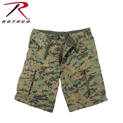 Vintage woodland digital camouflage Cargo Shorts XXL Woodland Digital Camo (Woodland Camo-cargo-shorts)