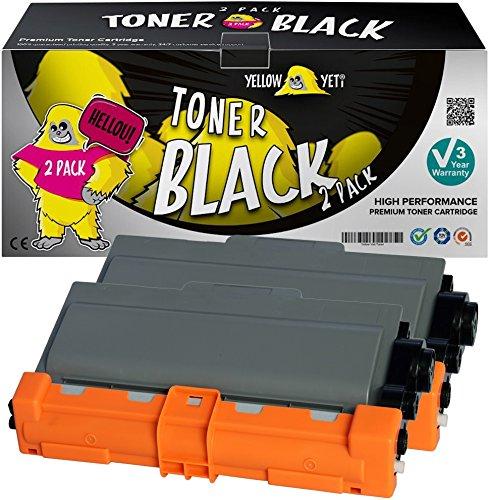 8150dn Laser (Yellow Yeti TN3380 (8.000 Seiten) 2 Premium Toner kompatibel für Brother HL-5440D HL-5450D HL-5450DN HL-5470DW HL-5480DW HL-6180DW MFC-8510DN MFC-8950DW MFC-8950DWT DCP-8110DN [3 Jahre Garantie])