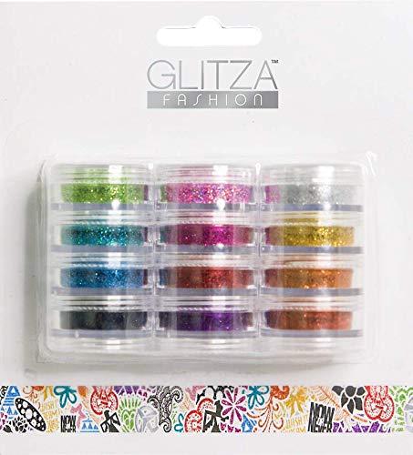 Knorrtoys gl7995glitza fashion set–12glitter polvere doeschen disponibile in diversi colori, 1er pack (1x 12pezzi)