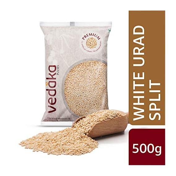 Amazon Brand - Vedaka Premium White Urad Split, 500g