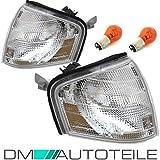 DM Autoteile 2x Benz W202 Frontblinker Blinker vorne RE+LI Weiß SET Glas +BIRNEN