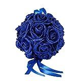Wunderschöne Brautschmuck/Hochzeitszimmer / Kunstblume/Rosenkugel aus Schaumstoff, zum Aufhängen, Saphirblau