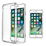 Moozy Transparent Silikon Hülle für iPhone 5s / iPhone SE - Stoßfest Klar TPU Case Handyhülle Schutzhülle
