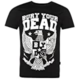 Bury Your Dead Mosh and Roll Eagle T-Shirt Mens Black Casual Wear Top Tee Shirt