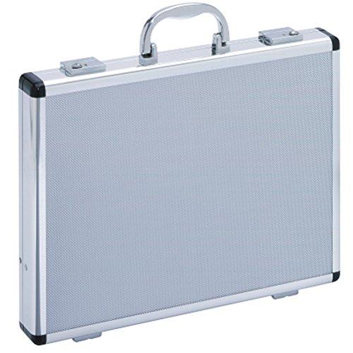 Aktenkoffer Attaché Koffer Aluminium Alu Silber Schmal Dünn Slimline (Aktenkoffer Attache)