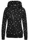 Ehpow Damen Kapuzenpullover Zipper Hoodies Sweatshirt Oberteil Pullover (Medium, Schwarzer Stern)