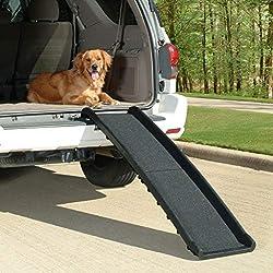 PetSafe - Rampe pour animal de compagnie ultralégère pliable PetSafe Solvit, rampe en 2 parties pour voiture, légère et facile à transporter