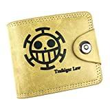 ALTcompluser One Piece Anime Brieftasche Bifold Geldbörse/Geldbeutel für Herren und Damen, Portemonnaie Wallet mit Münzfach & Kreditkartensteckplätze(S Trafalgar Law)