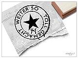Stempel - Lehrerstempel WEITER SO TOLL GEMACHT als Poststempel mit Stern - Schulstempel Lobstempel für gute Leistungen Motivation der Schüler - zAcheR-fineT