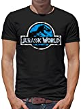 Jurassic World Distressed Logo T-Shirt Herren M Schwarz