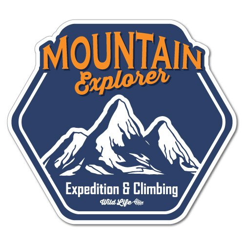 Mountain Explorer Climbing Outdoor Adventure Sticker Decal Surfboard Vintage Skate Surf -