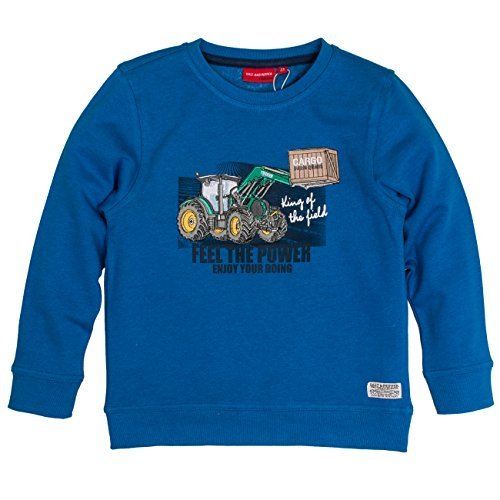 SALT AND PEPPER Jungen Sweat Farm Work Power Sweatshirt, Blau (Artic Blue Melange 447), 116