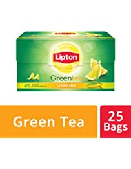 Lipton Lemon Zest Green Tea Bags, (25 Pieces)