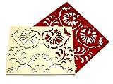 designerhimmel - _ NEOBAROCK Tisch-Set 1 St. rot-wollweiß