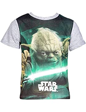 Star Wars T-Shirt für Kinder, original Lizenzware,grau, Gr. 104-140