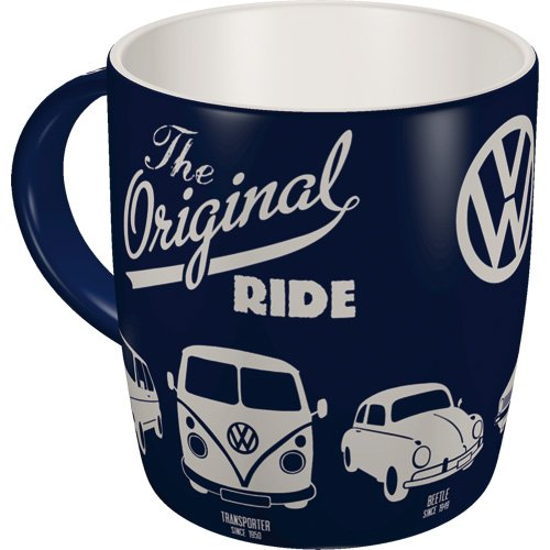 Nostalgic-Art 43043 Volkswagen - VW Bulli, Beetle & Golf - The Original Ride, Tasse (1 Tasse Becher)