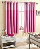 Enhanced Living Curtain Panel (Set of 2) Size: 117cm W x 137cm L, Colour: Pink