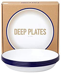 Falcon Deep Plates - Blue + White by Falcon Enamelware