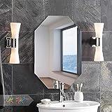Art Street Frameless Octagon Wall Mirror 16 x 24 inch