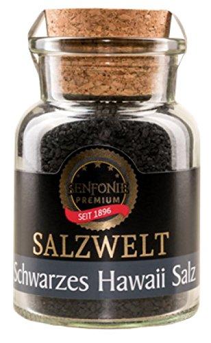 Altenburger Original Senfonie Premium Schwarzes Hawaiisalz, 180g im Korkenglas, mildes und natürlich gewonnenes schwarzes Salz