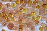 300pezzi di vetro a mosaico flimmer (filo oro, unecht) Oro Mix 1x 1cm circa 204G.