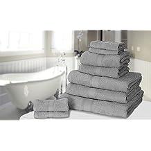 Knightsbridge Set di 9 asciugamani 100% cotone egiziano (500g per