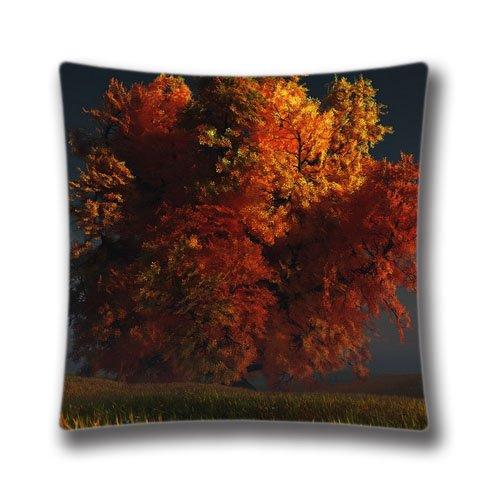 Bin Königreich Baumwolle & Polyester Überwurf 3D Autumn Tree Kissenbezug Kissenbezüge 45,7x 45,7cm Zoll (45x 45cm)