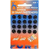 Pony Tich Buttons(Snap Fasteners) for Craft,Dressmaking and Sewing Purpose, Black Color,Size-1