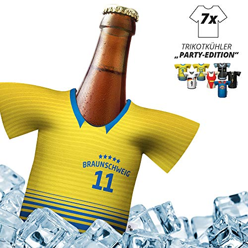 Herren Trikot-Kühler für Eintracht Braunschweig-Fans | 7er Party-Edition | fußball Fanartikel bierkühler by ligakakao.de