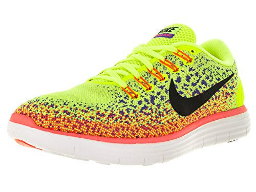 Nike Free RN Distance, Chaussures de Running Entrainement Homme citronier