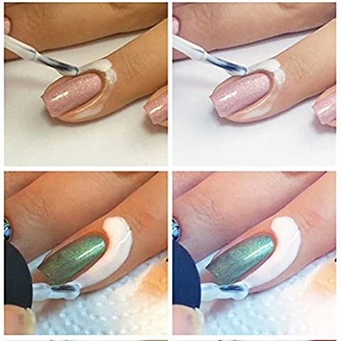 Ohyou genérico blanco Pele líquido de la cinta Retire la capa de Base de uñas arte líquido
