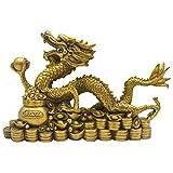 FOTEE Coleccionables Adornos, Edificios coleccionables y Accesorios/Conjuntos de Regalo/Decoración de Pared/Escenas de Mesa, Riqueza y Prosperidad,Dragon_28.5x7.5x18cm