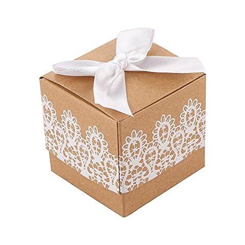 AOZBZ 50Pcs Petites Kraft Papier BoîTes-Cadeaux, BoîTes à Friandises DéCoratifs PréSente, Biscuits, Bonbons, Bougies, Savons, Cadeaux Faits Maison, BoîTes Cadeaux de NoëL pour FêTe, Baby Shower, NoëL, Anniversaires, Vacances, Graduation, Mariage (50Pcs)