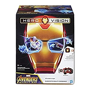 Marvel Avengers: Infinity War Hero Vision Iron Man AR Set Includes AR Mask, AR Goggles, Gauntlet, 3 AR Markers, And infinity Stone.