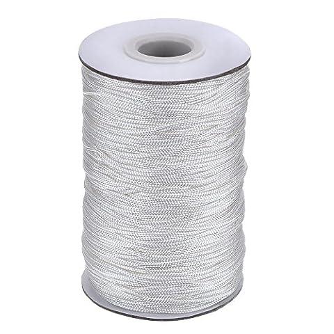 Outus 109 Yards/ Roll Weiß Geflochtene Lift Shade Schnur für Aluminium Blind Shade, Gartenbau und Handwerk (1,4 mm)