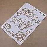 YNuth Schablone Wandschablone Vogel Rose Löwenzahn Textil Airbrush Malen Dekor