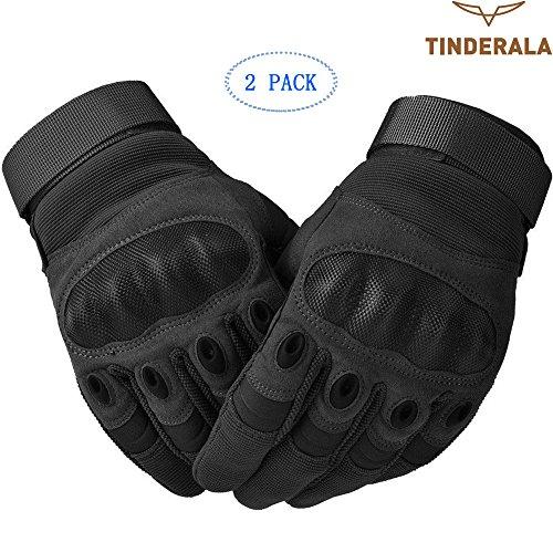 Guanti da moto, tinderala guanti moto, resistenti all'usura ginocchio e protezione in schiuma per riprese, guanti da moto ciclismo completo