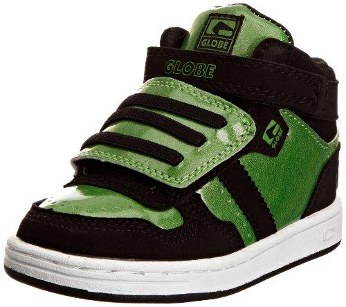 GlobeSuperfly Velcro - Scarpe da Skate Ragazzi, Verde (Metallic Green/Black), 27 EU Bambino Piccolo