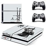 Playstation 4 + 2 Controller Aufkleber Schutzfolie Set - The Witcher (3) /PS4