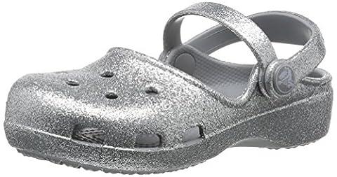 crocs Crocs Karin Sparkle Clog K Sil, Mädchen Clogs, Silber (Silver 040), 33/34 EU (2 Kinder UK)