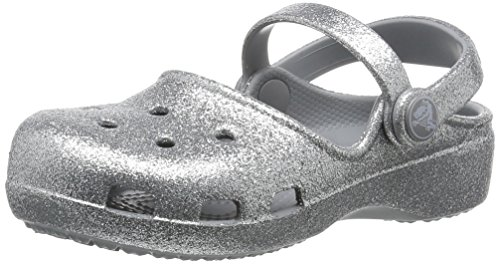 crocs Crocs Karin Sparkle Clog K Sil, Mädchen Clogs, Silber (Silver 040), 32/33 EU (1 Kinder UK)