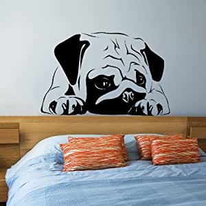 wandtattoo wandaufkleber sticker mops k che. Black Bedroom Furniture Sets. Home Design Ideas