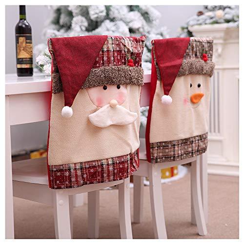 99AMZ Funda de Silla de Navidad para Decoración de Navidad Fundas para Silla Santa Claus Muñeco De Nieve para Navidad...