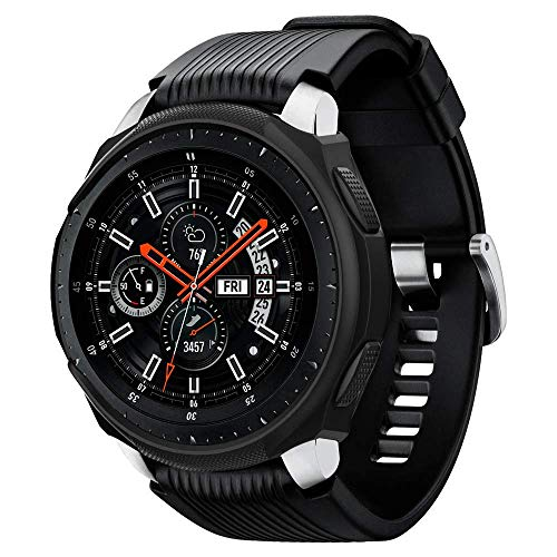 Spigen Galaxy Watch 46mm Custodia, Liquid Air Armor progettato per Galaxy Watch 46mm Case Cover - Nero