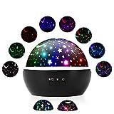 Sternenhimmel Projektor Nachtlicht, VCOM 360 Grad Stimmung Stern Raum Rotierende Ocean Star Moon Projektions für Schlafzimmer Geburtstag Weihnachten Projektion Nachtlichter Spielzeug für Kinder